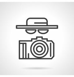 Black simple line spy icon vector