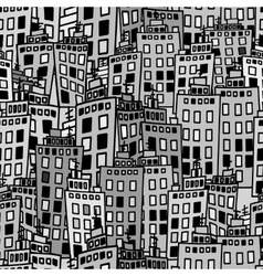 Seamless texture of urban homes Dense buildings vector image