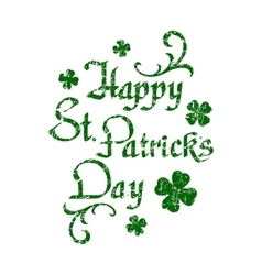 Happy St Patricks Day hand drawn calligraphy vector image