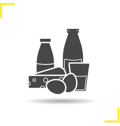 Dairy icon vector