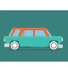 Vintage isolated car vector