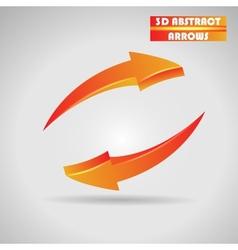 abstract orange arrows 3d vector image vector image