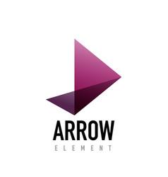 Arrow geometric design logo vector