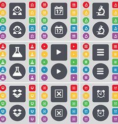 Avatar calendar microscope flask media play apps vector