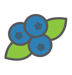 blueberry line icon fruit and diet vector image vector image