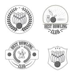 Bowling clib vector image