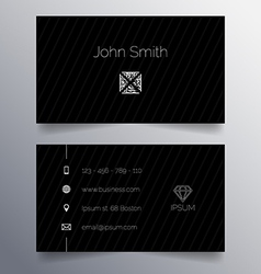 Business card template - simple dark modern design vector