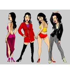 Cartoon show clothing female fashion model vector