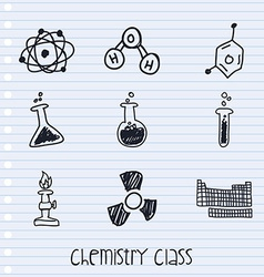 chemistry class vector image vector image