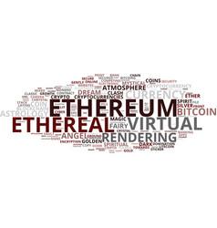 Ethereum word cloud concept vector