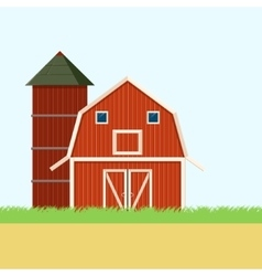 Farm field banner vector image