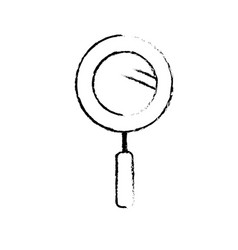 Figure magnifying glass instrument to analyzing vector