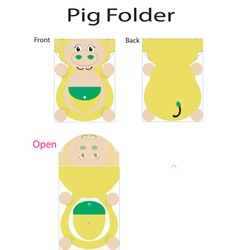 folder pig vector image