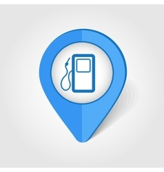 Gas Station map pin icon vector image