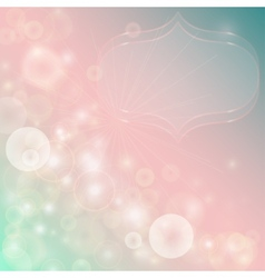 Gentle abstract background with bokeh effect vector