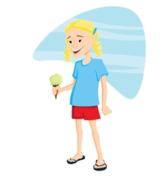 Girl with Ice Cream vector image