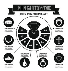 Jewelry infographic concept simple style vector