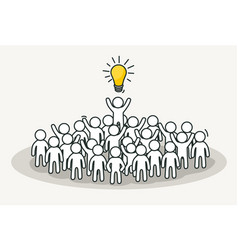 little white people with creative leader creative vector image