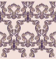 luxury baroque paper decor ornament pattern vector image