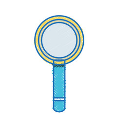 magnifying glass tool object design vector image vector image