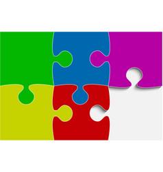 multu color piece puzzle jigsaw vector image vector image