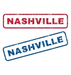 Nashville rubber stamps vector