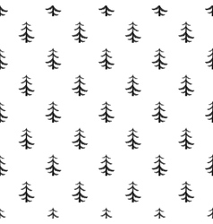 Pine tree pattern simple style vector image