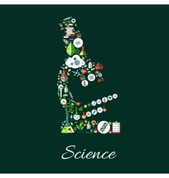 Science concept symbol in shape of microscope vector image vector image