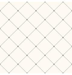 Seamless retro polka dot pattern vector image