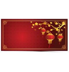 chinese lantern template vector image