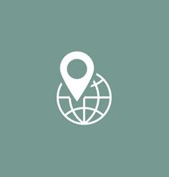 globe location icon simple vector image