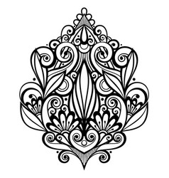 Black decorative element in doodle style with lot vector