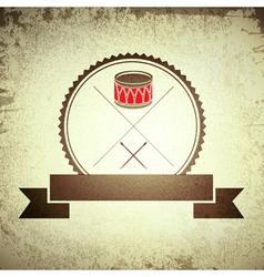Drum emblem vector