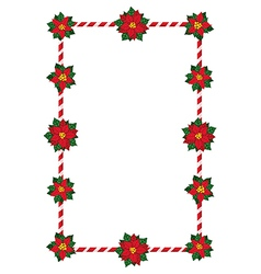 Christmas flowers frame vector