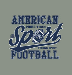 American football stylized vector
