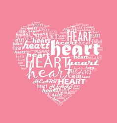love typography with heart shape vector image