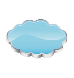 3d realistic cloud in cumulus shape vector