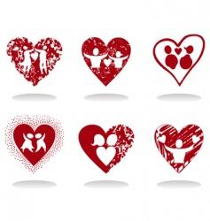 heart icon8 vector image