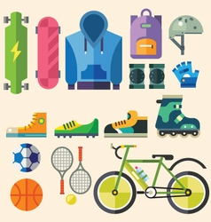 Equipment and clothig for sports vector