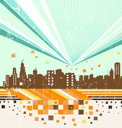 Abstract city vector