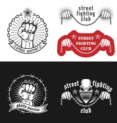 Street fighting emblem vector