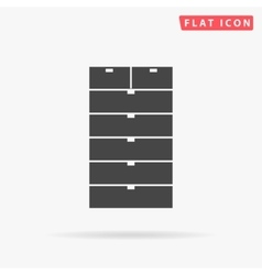Archive simple flat icon vector