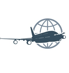 Travel around the globe - flying airliner vector