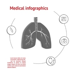 Lungs medical infographic vector