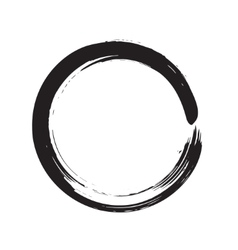 Circle shape black grunge background vector