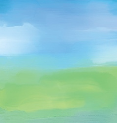 Abstract landscape in watercolor vector