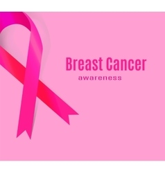 Awareness Pink Ribbon The International Symbol of vector image