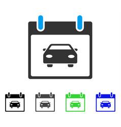 Car calendar day flat icon vector