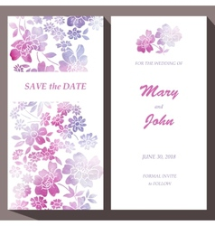 Card template for save the date baby vector