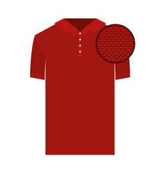 colorful silhouette of polo shirt short sleeve man vector image vector image